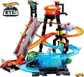 Mattel Hot Wheels Ultimate Gator Car Wash Playset FTB67, Multicolor