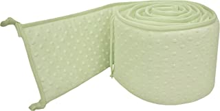 American Baby Company Heavenly Soft Minky Dot Portable and Mini-Crib Bumper, Celery Puff (Not for Crib), for Boys and Girls