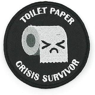 Toilet Paper Crisis Survivor Gesticktes Aufbügeln/Aufnähen Patch oder Haken zurück