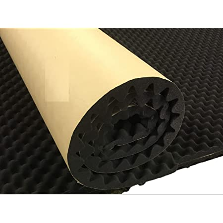 Smooth Foam Self Adhesive Insulation Soundproofing Kit Decoration 100x50 cm