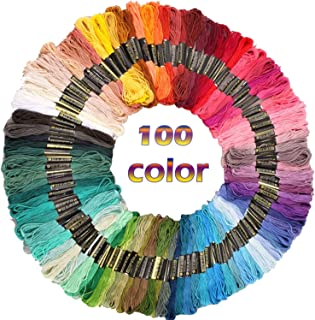 Sifang Rainbow Embroidery Skeins,Premium Multi Cross Stitch Threads, Friendship Bracelet String, Crafts Floss (100 Color)