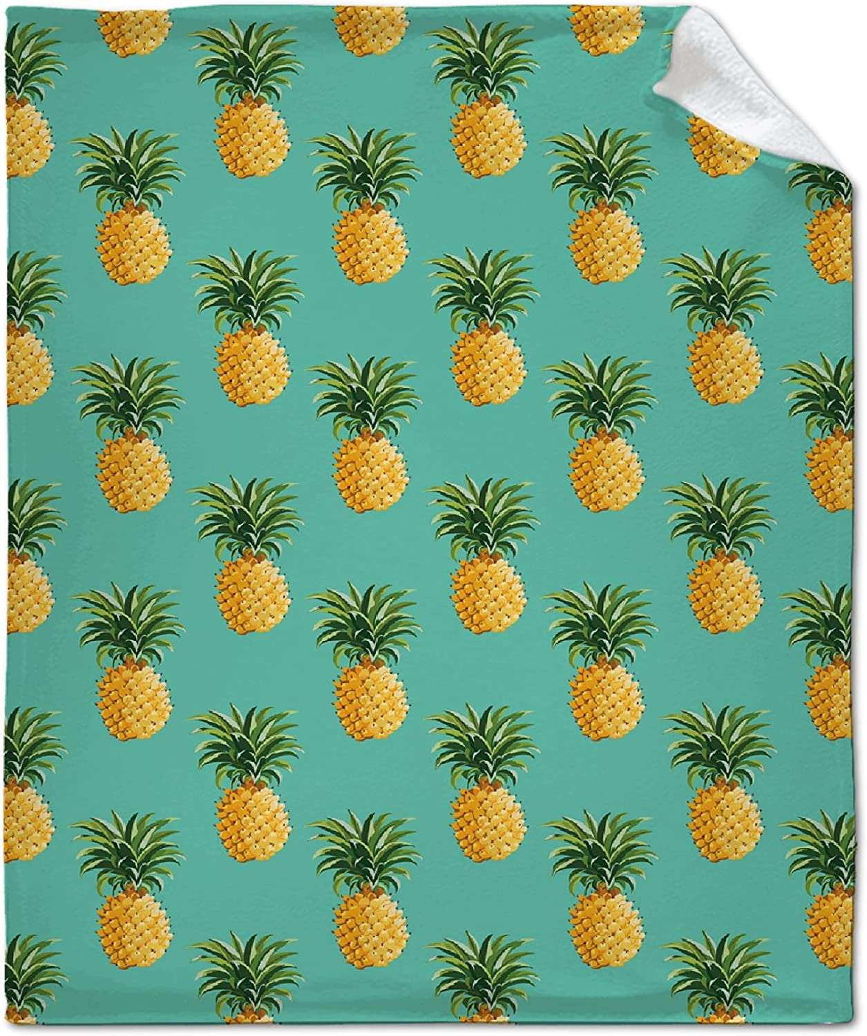Pineapple Print Blanket Throw Memphis Max 51% OFF Mall The Gift Family Friends for Best