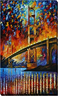 Picture Perfect International Giclee Stretched Wall Art by Leonid Afremov Golden Gate Bridge Artists-Canvas 28