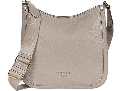 Kate Spade New York Roulette Medium Messenger (Warm Taupe) Handbags