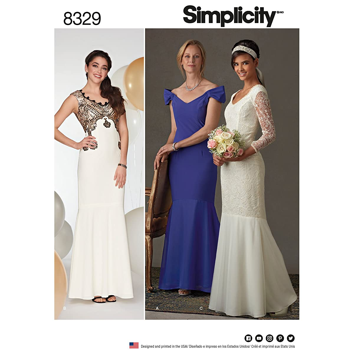 Simplicity Creative Patterns US8329P5 Sewing Pattern Special Occasion