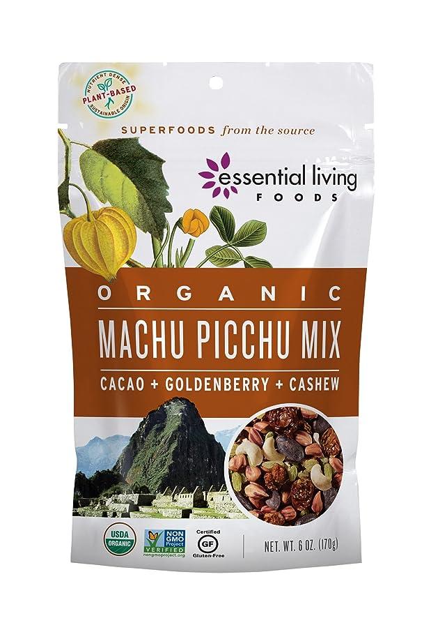 Essential Living Foods Organic Machu Picchu Trail Mix, Goldenberries, Jungle Peanuts, Raisins, Cacao Nibs, Cashews, Vegan, Superfood, Non-GMO, Gluten Free, Kosher, 6 Ounce Resealable Bag