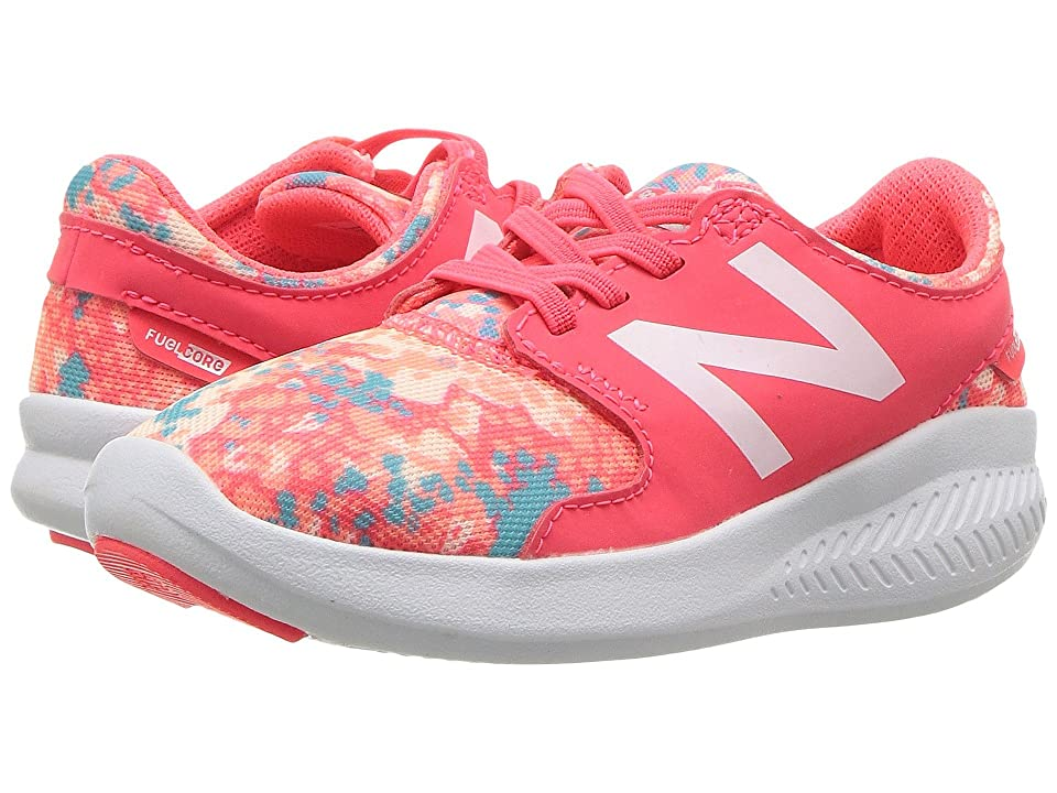 New Balance Kids KACSTv3I (Infant/Toddler) (Vivid Coral/Ozone Blue) Girls Shoes