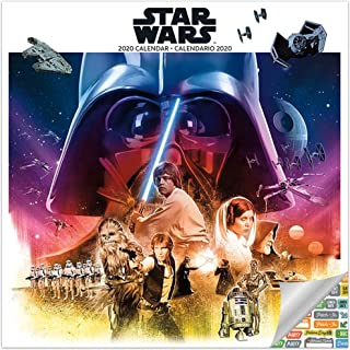 Star Wars Calendar 2020 Set - Deluxe 2020 Star Wars Wall Calendar with Over 100 Calendar Stickers (English and Spanish)