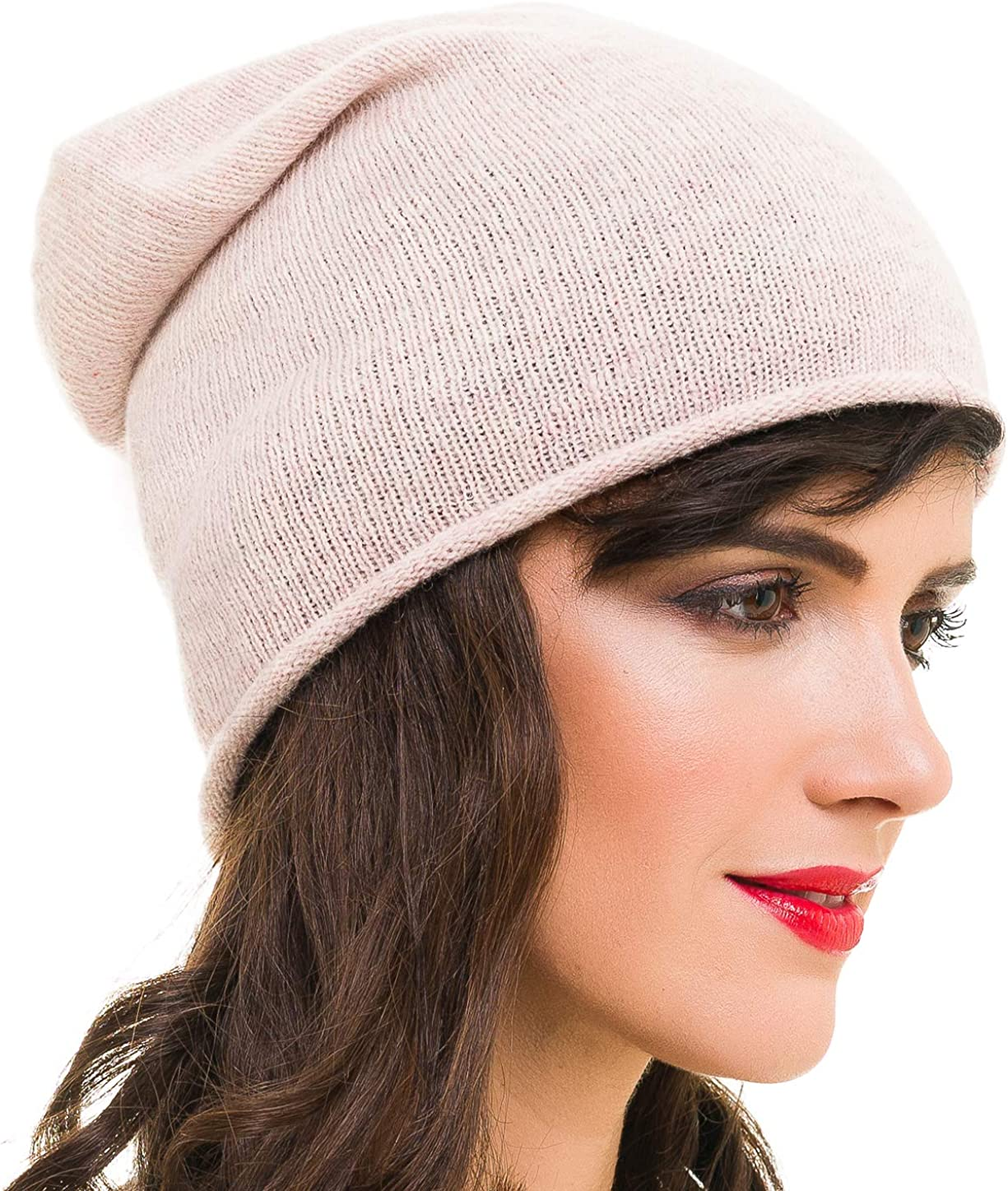 MELIFLUOS DESIGNED IN SPAIN Beanie for Women Solid Color Hat Skull Skully Cap Toboggan Fashion for Spring Fall