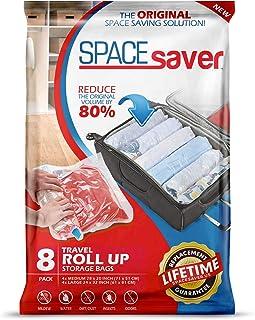 Spacesaver Lot de 8 sacs de rangement enroulables de qualité supérieure pour un gain de place maximum 80 % de stockage en ...