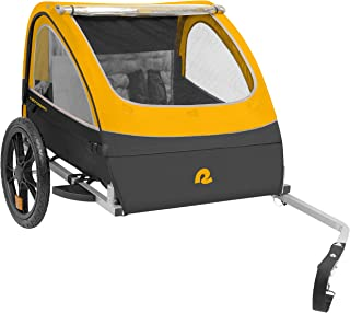 """Retrospec Rover Kids Bicycle Trailer Single and Double Passenger Children's Foldable Tow Behind Bike Trailer with 16"""" Wheels"""