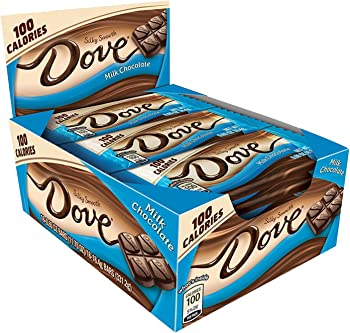 Dove 100 Calories Milk Chocolate Candy Bar 0.65-Oz. Bar 18-Cts. Box