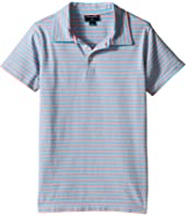 Oscar de la Renta Childrenswear Striped Short Sleeve Polo (Toddler/Little Kids/Big Kids)