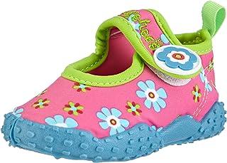 Playshoes Souliers de Sports Aquatiques avec Protection UV Floral, Chaussures pour Piscine et Plage Fille