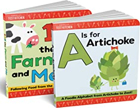 2-book set of A Is for Artichoke and 123 the Farm and Me