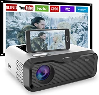 "【2021 New】JIEGAO Wifi Portable Projector- Play Netflix -Wireless Mini Projector HD 1080P and 220"" Display Supported, Compa..."