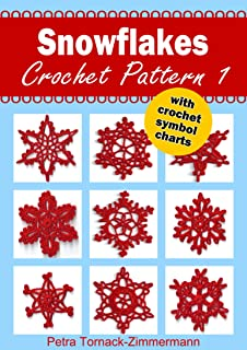 SNOWFLAKES Crochet Pattern 1: with crochet symbol charts