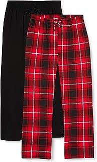 FM London (2-Pack) Men's Pyjama Bottoms   Flexible Waist, Soft Pyjamas
