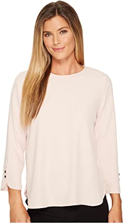 Calvin Klein Long Sleeve Blouse w/ Button Detail