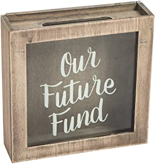Our Future Fund Honeymoon Box (wood and glass) Wedding Decor