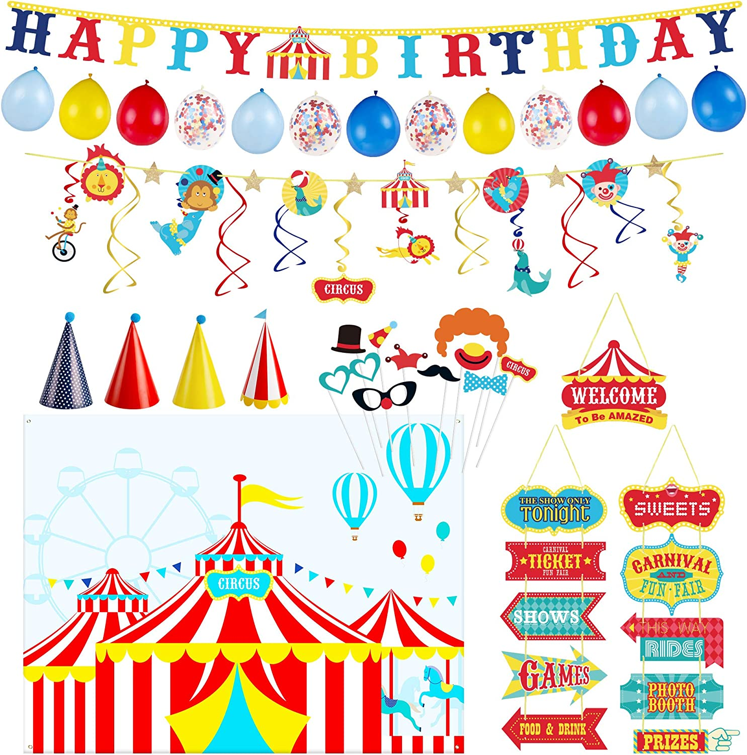 Decorlife Carnival Theme Party Lowest price challenge Decorations for Kids Cir Includes Super-cheap