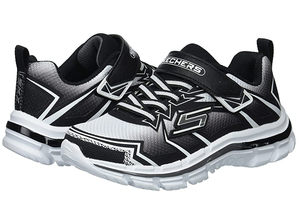 SKECHERS KIDS Nitrate 95370L (Little Kid/Big Kid) (White/Black) Boy