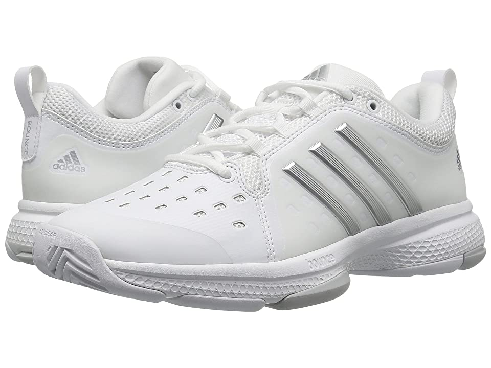 adidas Barricade Classic Bounce (Footwear White/Silver Metallic/LGH Solid Grey) Women