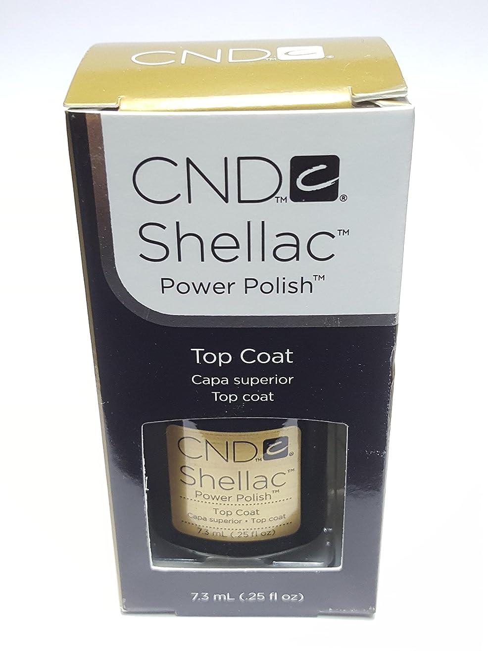 ではごきげんようダウン守るCND シーエヌディー shellac シェラック パワーポリッシュ UVトップコート 7.3ml 炭酸泉タブレット1個付き
