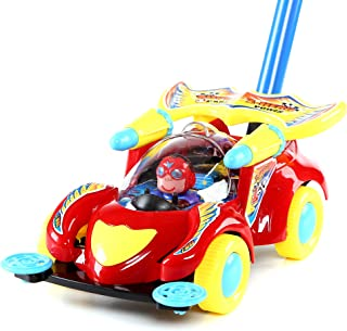 Fun Central 10 Inches Race Car Push Toy - Walking & Outdoor Toys for Toddlers & Kids