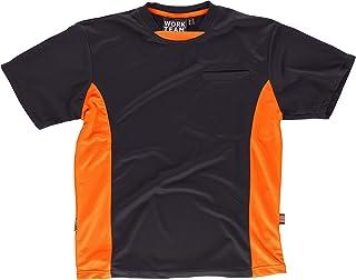Work Team Camiseta Linea 6, Tipo Malla, Manga Corta, Bicolor. Hombre