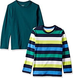 Amazon Essentials Boys' 2-Pack Long-Sleeve Tees