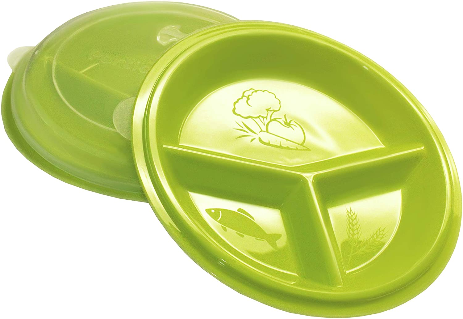 Rehabilitation Direct stock discount Advantage 3 Compartment Portion S Max 74% OFF Plate Lid with