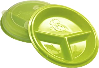 3 Compartment Portion Plate with Lid (Set of 2)