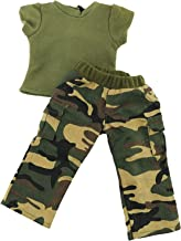 Green Camouflage Outfit Fits 18