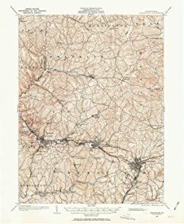 YellowMaps Greensburg PA topo map, 1:62500 Scale, 15 X 15 Minute, Historical, 1904, Updated 1963, 20.9 x 17.1 in