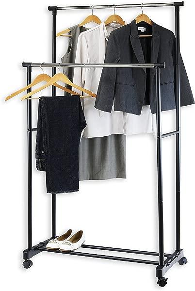 简约家居用品双杆便携服装挂衣架