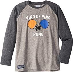 Ping Pong Long Sleeve Baseball Tee (Toddler/Little Kids/Big Kids)