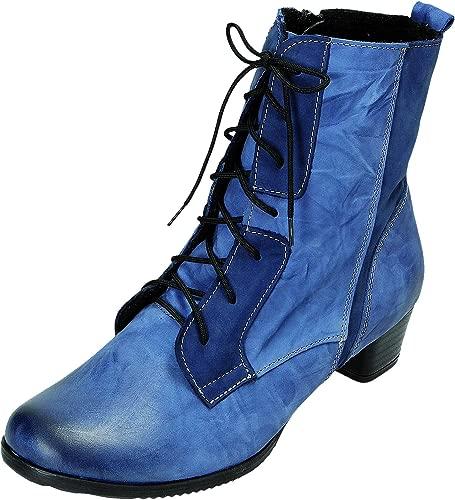 schuhe Stiefel D.Schnürstfl in blau, Größe 37.0,