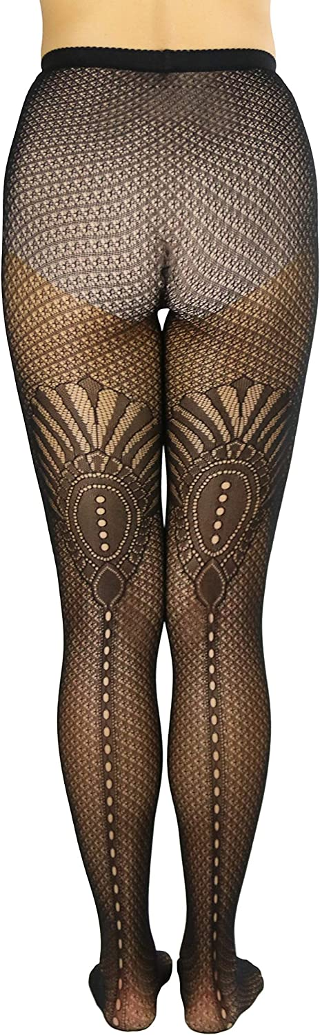 ToBeInstyle Women's Bold Design with Backseam Fishnet Tights