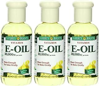 Nature's Bounty Vitamin E Oil - 30,000 IU - Pure Enough To Take Orally - Vegetarian Formula - Net Wt. 2.5 FL OZ (74 mL) Ea...