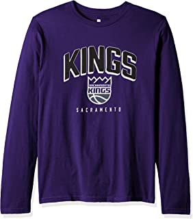 Outerstuff NBA NBA Youth Boys Sacramento Kings Dunked Long Sleeve Tee, Purple, Youth Large(14-16)
