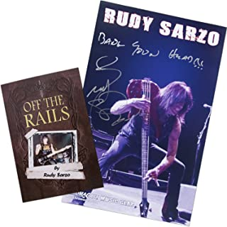 """ChromaCast Rudy Sarzo Autographed """"Off the Rails"""" Book and Poster Collector's Pack (CC-RS-BP"""