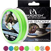 M MAXIMUMCATCH Maxcatch Braided Fly Line Backing for Fly Fishing 20/30lb(White, Yellow, Orange, Black&White, Black&Yellow, Blue, Pink, Green, Purple)