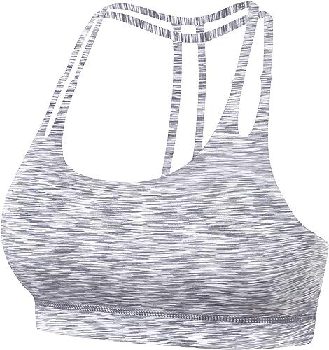 QUEENIEKE Womens Yoga Sport Bra Light Support Strappy Free to Be Bra
