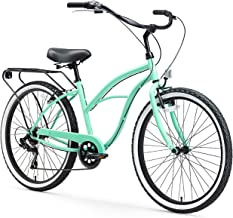 sixthreezero Around The Block Women's Beach Cruiser Bicycle or Electric Bike, 24-Inch and 26-Inch