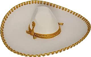 Authentic Adult Mexican Sombrero Mariachi Charro Hat, Premium Mexican Hat for Costume Parties, 5 de Mayo, 16 de Septiembre