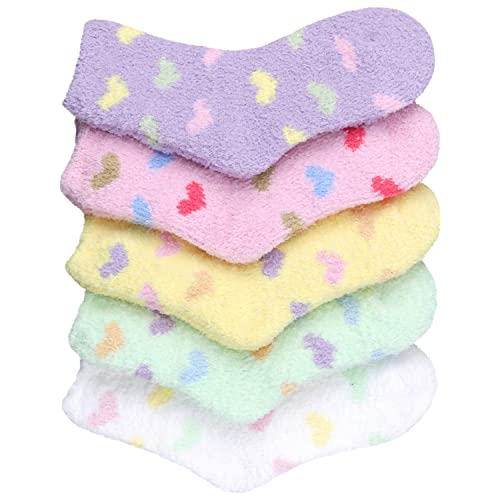 HASLRA Premium Soft Warm Microfiber Fuzzy Socks 3-5 Pairs