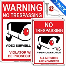 3Pack No Trespassing Signs Private Property 7