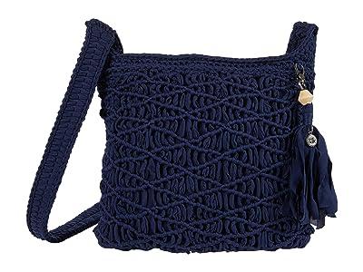 The Sak Carlisle Crochet Crossbody (Navy) Handbags