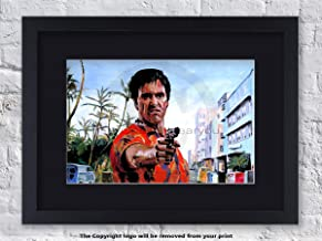 Laminated Posters Scarface Hawaiian Shirt - Framed Black Mounted - Art Print